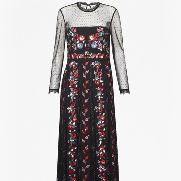 2d2b4453c9a French Connection Dresses   Edith Floral Long Sleeved Maxi Dress ...
